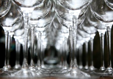 high society: wine glasses Stock Photo