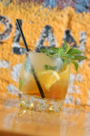 muddle: tropical cocktail with orange