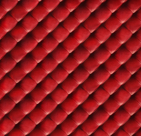 Red quilted leather background, high resolution photo