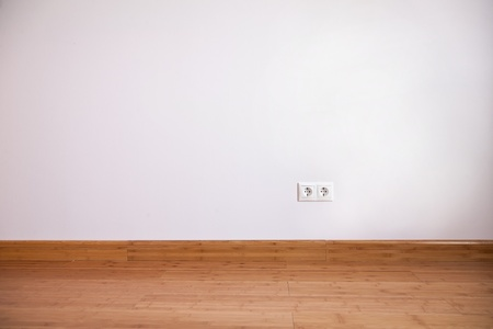 Interior wall with domestic power outlet Stock Photo - 12569311