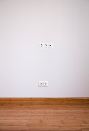 Interior wall with domestic power outlet Stock Photo - 12569310