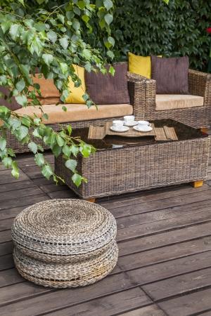 oudoor: Summer terrace Stock Photo