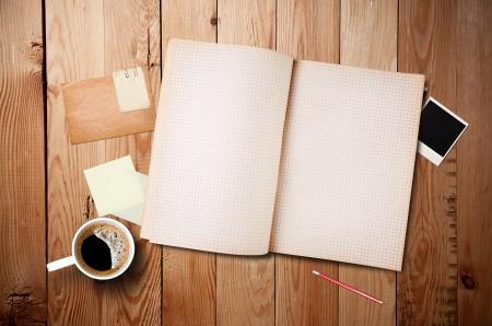 Workspace mit Kaffeetasse