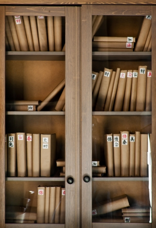 Books on the shelf photo
