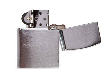 Metal lighter isolated on white background Stock Photo - 16154155