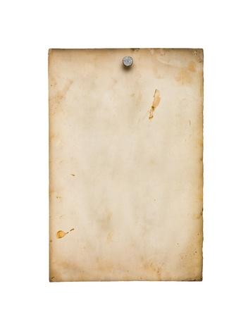 Altes Papier isoliert auf wei� Lizenzfreie Bilder