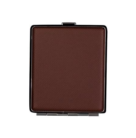 cigarette case: Brown case, cigarette case