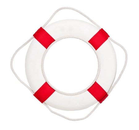 life buoy: Lifebuoy, isolated on white