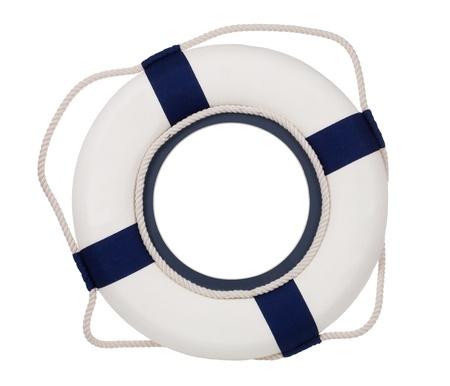 safety buoy: Lifebuoy, isolated on white