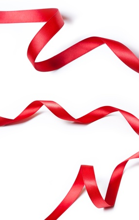 Collection of various red ribbons  photo