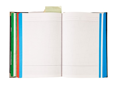 sketchbook: Blank notebook isolated on white Stock Photo