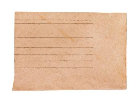 Old envelope, isolated on white Stock Photo - 17721053