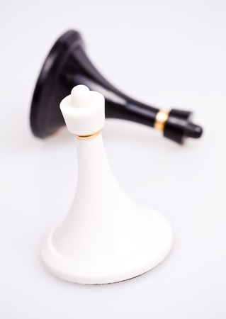 defeated: Black pawn defeated by white pawn