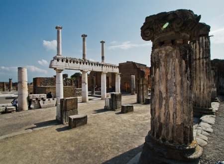 catastrophic: Pompeii Stock Photo