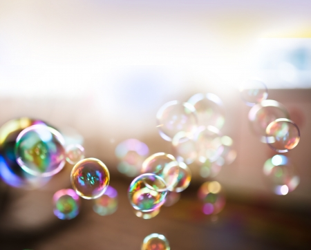 Soap bubbles, abstract background Banco de Imagens