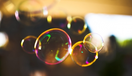 soap sud: Soap bubbles, abstract background Stock Photo