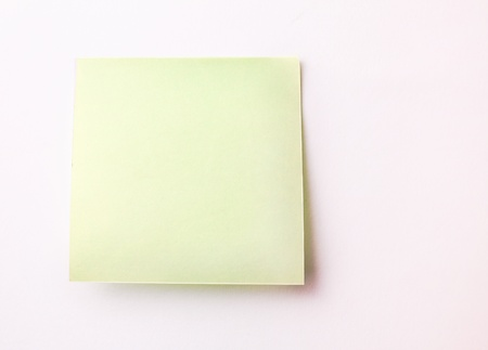 bulletinboard: Blank Sticky Note on white wall Stock Photo