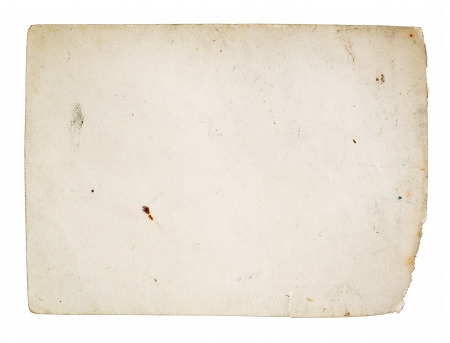 Old paper texture, isolated on white photo