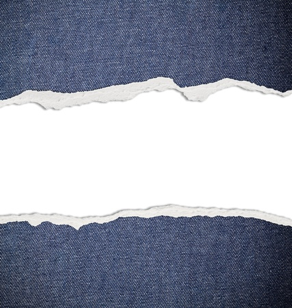 ripped: Ripped paper with free space for text, jeans texture Stock Photo