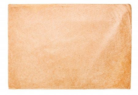 old envelope: Old envelope, isolated on white Stock Photo