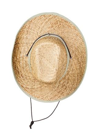 resistol: Sombrero de paja, aislado en blanco