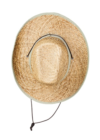 Straw hat, isolated on white