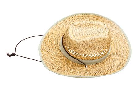 resistol: Sombrero de paja, aislados en blanco