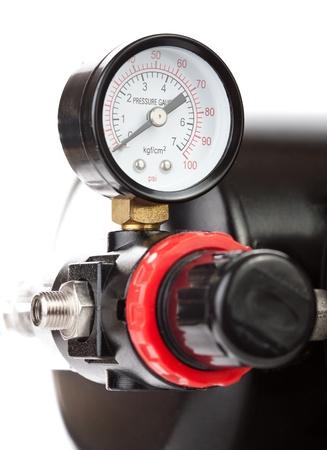 hydraulic hoses: Manometer Stock Photo