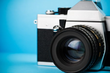 Vintage old film photo-camera Stock Photo - 21045238