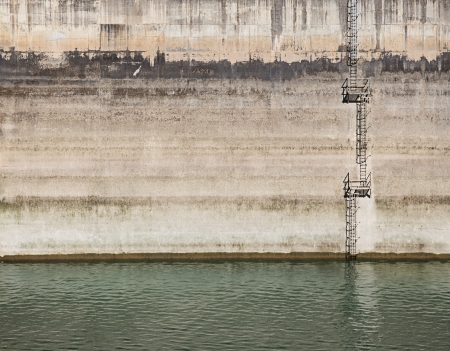ascends: Fragment of industrial architecture, abstract background  Stock Photo