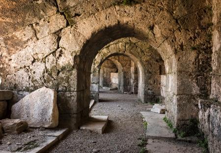 amphitheater: Ancient roman amphitheater. Side, Turkey.