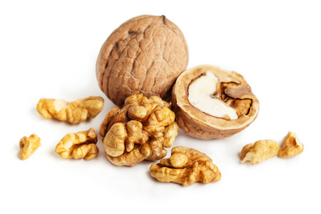 Walnuts, isolated on a white background photo