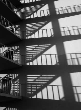 Fire escape and shadows  photo
