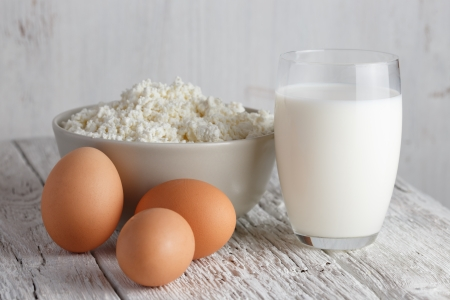 Dairy products and eggs photo