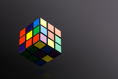 teaser: Six color cube puzzle Stock Photo