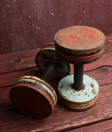 dumbells: Old  dumbbells