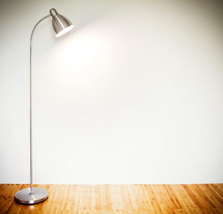 Empty room with modern floor lamp  Stock Photo