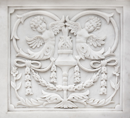carved stone: Carved stone decoration