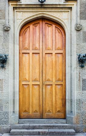 vorontsov: Entrance facade door Vorontsov palace Stock Photo