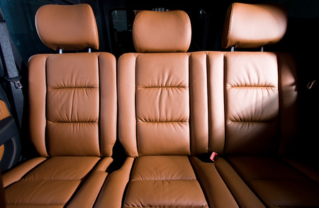 Back passenger seats in modern  comfortable car photo