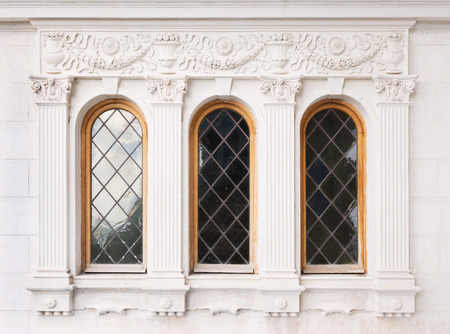 Architecture and windows of renaissance style classical building photo