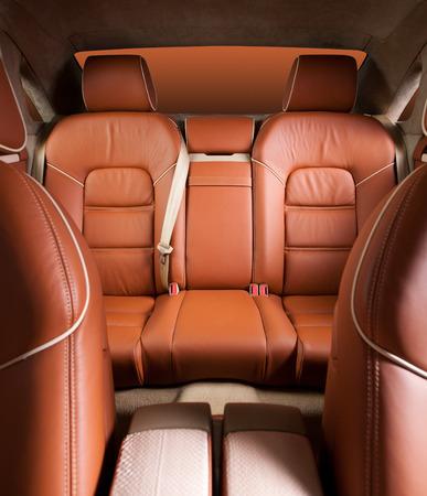 airbag: Back passenger seats in modern  comfortable car Stock Photo