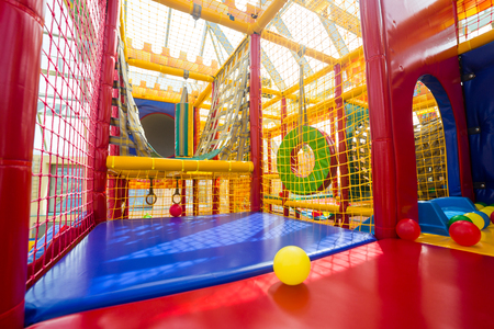 Indoor playground for children 免版税图像