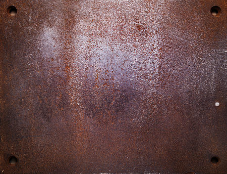 rusty: Aged metal texture, iron background.