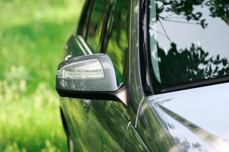 rear view mirror: Modern turn signal on rear view mirror