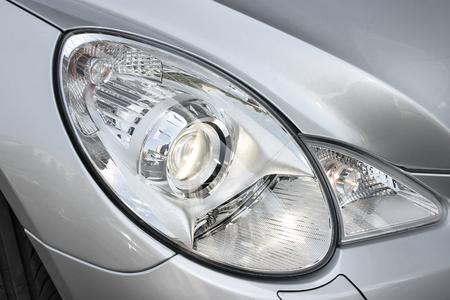 headlights: Closeup headlights of car