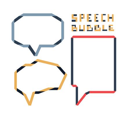 pcs: Origami speech bubble 3 pcs set, illustration