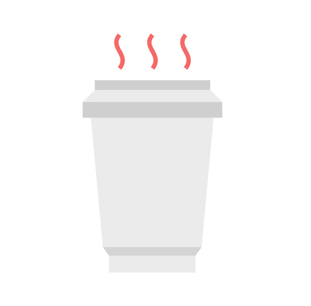 hot cup: illustration Hot coffee cup, flat style, Coffee to go. Illustration