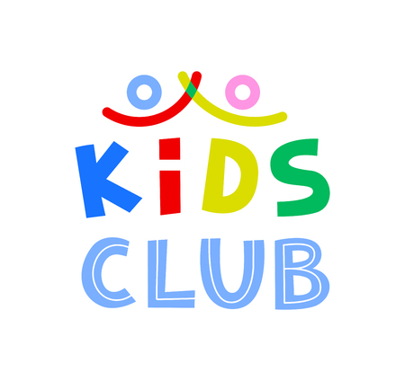 Kids Club Template. illustration.