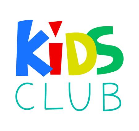 Kids Club Template. illustration.